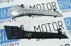 Светодиодные динамические повторители поворота Лексус Стайл черные в зеркала нового образца Лада Гранта, Гранта FL Фото № 5