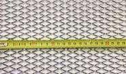 Алюминиевая сетка серебристая 100х25см, крупная ячейка (16х25мм) 1262