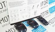 Накладки на педали type r черные