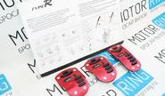 Накладки на педали type r красные