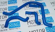 Патрубки печки армированный каучук синие 21082 на ВАЗ 2108-21099, 2113-2115 инжектор