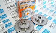 Передние тормозные диски Alnas Sport Euro 2112 (R14, насечки, перфорация, вентилируемые)