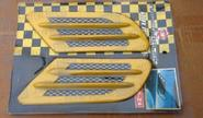 Декоративные накладки «Жабры» на кузов автомобиля, желтые