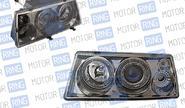 Фары prosport rs-03979 для ВАЗ 2108-099 «mercedes-benz» с «ангельскими глазками» тонированные, хром.