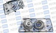 Фары prosport rs-03384 для ВАЗ 2108-099 «mercedes-benz» с «ангельскими глазками», хром.