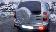 Чехол запасного колеса «off road» в цвет кузова для Шевроле Нива