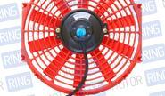 Вентилятор электрический 12 дюймов, красный