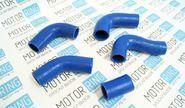Патрубки радиатора силиконовые синие на ГАЗель и ГАЗ 3110 дв. 406