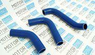 Патрубки радиатора силиконовые синие на ГАЗель Бизнес дв. УМЗ 4216