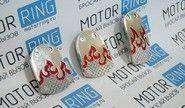 Накладки на педали type r серебристо-красные