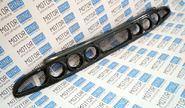 Нижняя решетка переднего бампера под 3 комплекта ПТФ (exclusive) на Лада Приора