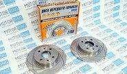 Передние тормозные диски alnas sport 2108 (r13, насечки, невентилируемые)