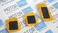 Накладки на педали type r желтые с квадратным резиновым протектором