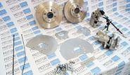 Задние дисковые тормоза Дизайн Сервис 14 ЕвроСпорт вентилируемые для ВАЗ 2108-15, ВАЗ 2110-12, Лада Приора, Калина, Гранта без АБС