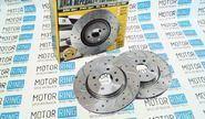 Тормозные диски АТС 11186-05 sport (r15, насечки, перфорация, вентилируемые)