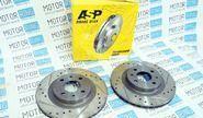 Тормозные диски ASP 2112 SPORT (R14, насечки, перфорация, вентилируемые)