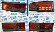 Светодиодные задние фонари красные с серой полосой на ВАЗ 2108-21099, 2113, 2114