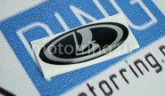 Наклейка на руль малая Ладья черная ВАЗ 2110-2112, Лада Калина, Нива 2121, 21213, Урбан