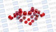 Комплект сайлентблоков и втулок красный полиуретан cs20 drive на ВАЗ 2110-2112