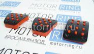 Накладки на педали красные на ВАЗ 2110-2112, Лада Калина, Приора, Гранта