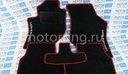 Ворсовые коврики с красной окантовкой Спорт в салон Лада Калина, Калина 2