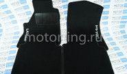 Ворсовые черные коврики в салон Лада Нива 4х4