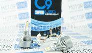 Светодиодные лампы c9 black super led 6000k h3 (черная коробка)