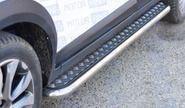 Защита порогов с алюминиевой площадкой o51мм (НПС) для Лада Икс Рей Кросс