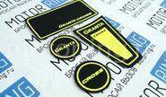 Коврики панели приборов Ворс с цветными надписями на Лада Гранта 2 Кросс