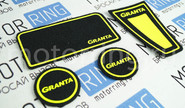 Коврики панели приборов Ворс с цветными надписями granta на Лада Гранта