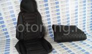 Обивка сидений (не чехлы) Кобра экокожа на Лада Приора 2 хэтчбек