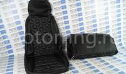 Обивка сидений (не чехлы) Куб экокожа на Лада Приора хэтчбек, универсал