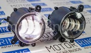 Диодные ПТФ ml auto light technology 3 полосы на Лада Приора