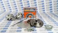 Задние дисковые тормоза Дизайн Сервис 13 вентилируемые для ВАЗ 2108-2115, Лада Приора, Калина, Гранта без АБС