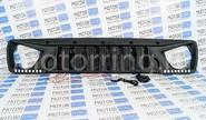 Злая решетка радиатора черная матовая (окантовка шагрень) с диодными ДХО на Лада Нива 4х4