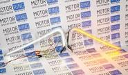 Комплект светодиодных верхних вставок (молдингов) sal-man с ДХО и динамическими повторителями в бампер Лада Веста
