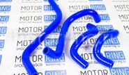 Патрубки печки силиконовые синие на ВАЗ 2108-21099, 2113-2115 инжектор