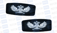 led повторители поворотника белые с гербом (двуглавый орел) на ВАЗ 2108-21099, 2110-2112, 2113-2115, Лада Калина, Приора, Гранта