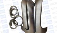 Облицовки рукояток пассажирских дверей и кольца дефлектора отопителя жидкий хром на Лада Гранта, Гранта fl, Калина 2, Датсун