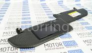 Черные солнцезащитные козырьки с зеркалом от Веста Спорт на Лада Веста