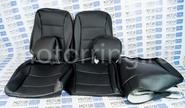 Халявing! Обивка сидений (не чехлы) экокожа черная перфорация на ВАЗ 2108-21099, 2113-2115,  Нива 2131 5 дверная (длинная)