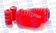 Отбойники с пыльниками передней стойки красный полиуретан cs20 drive на ВАЗ 2110-2112, Лада Калина, Приора