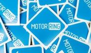 Фирменная наклейка MotoRRing на прозрачной подложке