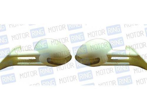 Боковые зеркала белые/черные с повторителем на ВАЗ 2108-21099, 2113-2115