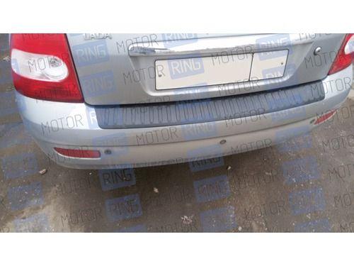 Защитная накладка на задний бампер для Лада Приора седан