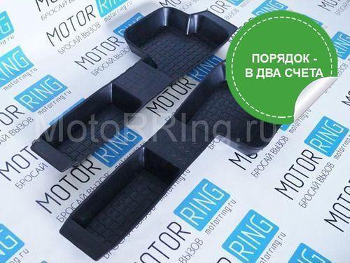 Боковые резиновые коврики пола на Лада Приора, ВАЗ 2110, 2111, 2112