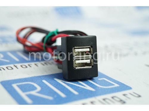 Зарядное устройство USB 2 слота на Лада Приора, Гранта, Гранта FL, Калина 2