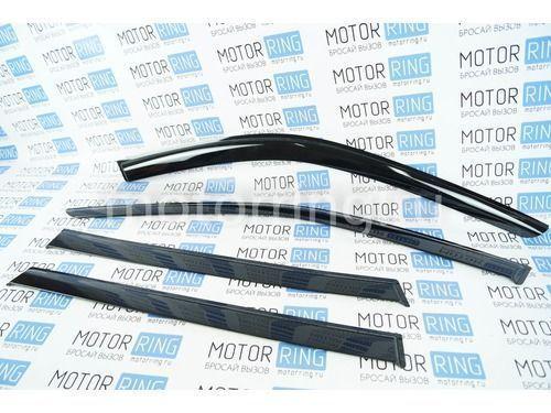 Дефлекторы Voron Glass серия Samurai гибкие на Лада Калина, Калина 2 универсал