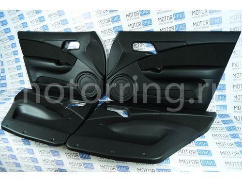 Обивка дверей ЛЮКС-2 кожзам с тканевой вставкой на ВАЗ 2110-2112
