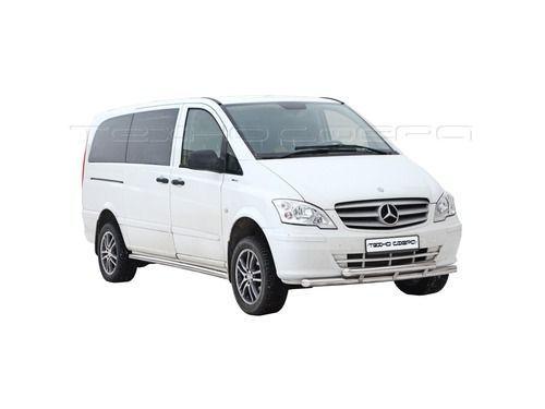 Защита порогов 1763 К «Труба» d63 окраш для Mercedes-Benz Viano/Vito кол.база 3200